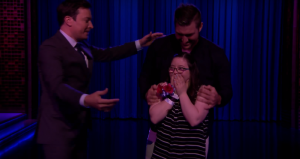 Tebow dances with special needs girl on Fallon