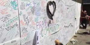 London: 'Prayer Wall' featured on national news