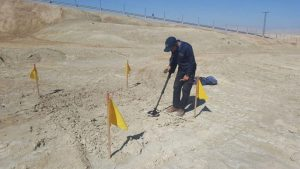 Israel begins clearing baptismal site of mines, remnants of war