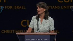 """We stand with Israel""– US Ambassador to UN cites faith in Jesus"