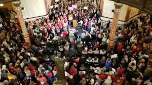 Pro-lifers flood state capitol